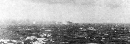 Bismarck under the gun.
